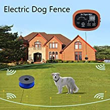 2 Dog Electric Fence, In-Ground Invisible Dog Containment System with 650 Ft Wire, Receiver Send Beeps and Shock Correction WCF-3