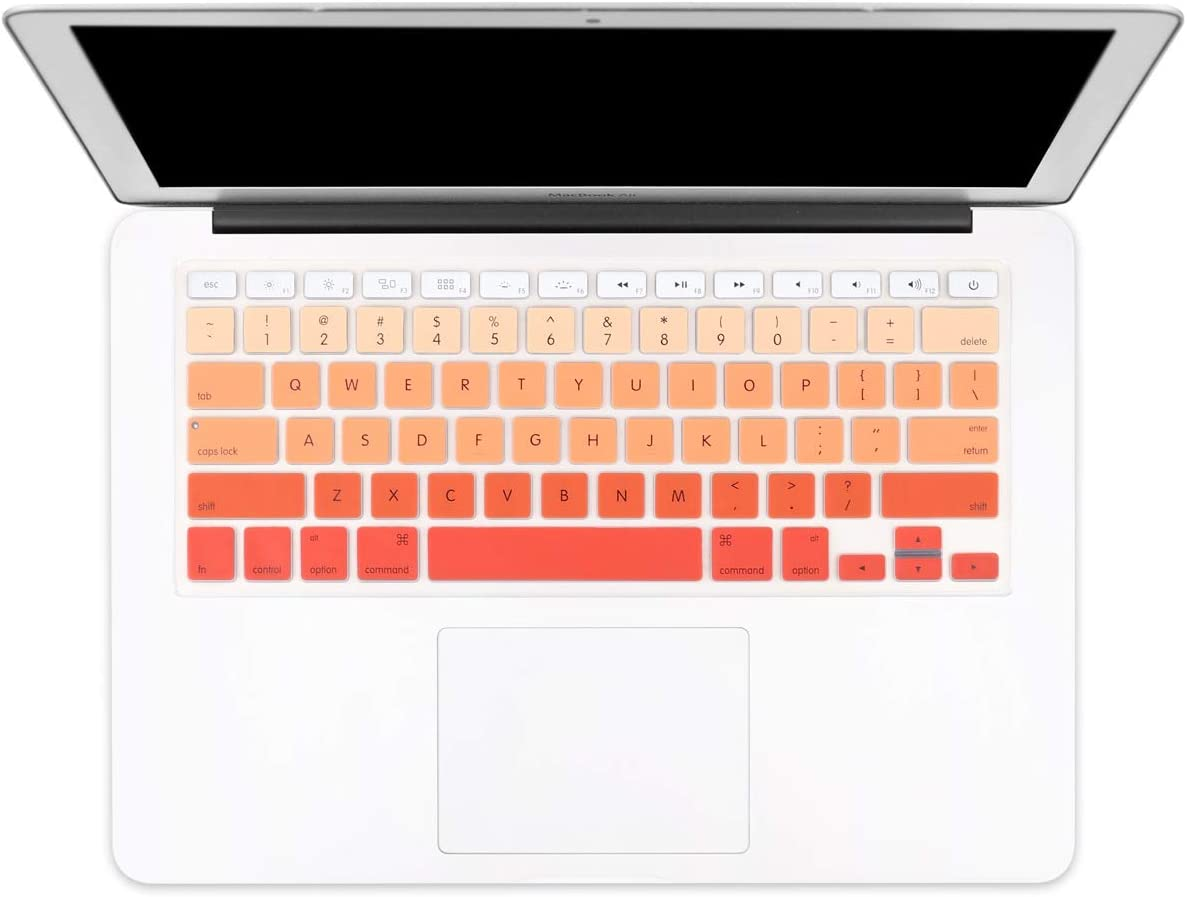 "Batianda New Ombre Color Keyboard Cover Protector Silicone Skin for Old MacBook Air 13"" MacBook Pro 13"" 15"" 17"" (with or w/Out Retina Display) - Gradient Orange"