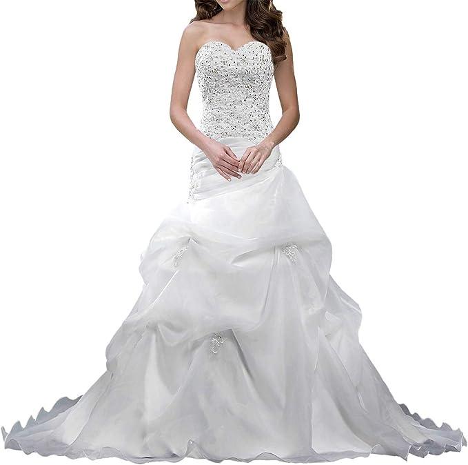 ANTS Women's Corset Sweetheart Mermaid Wedding Dresses for Brides
