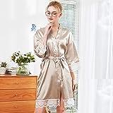 Women's Sexy Long Silk Lace Babydoll V-Neck