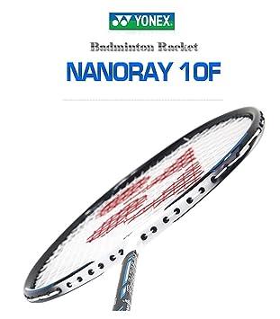 Prestrung Yonex Nanoray 10F Badminton Racquet Blue