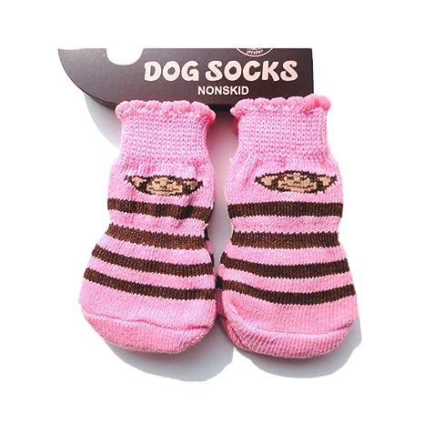 Calcetines para mascotas, suaves, calientes, antideslizantes, protectores de las patas, para
