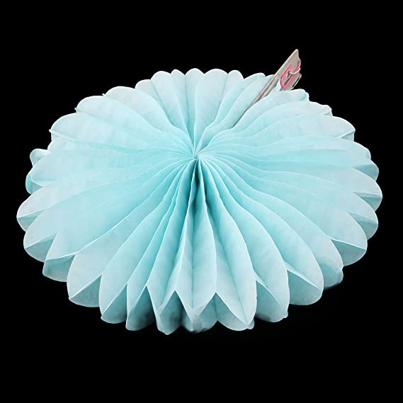 Amazon.com: eDealMax Tejido Fiesta de la boda de Papel colgando rueda de la decoración del ventilador de Nido de abeja de Flor Azul claro 5pcs: Home & ...