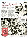 tuna salad recipe - Bean Tuna Salad Recipe in 1937 Van CAMP'S Beans AD Original Paper Ephemera Authentic Vintage Print Magazine Ad/Article