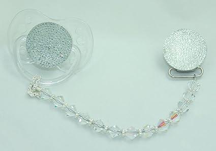 Cristal sueño brillante claro elegante Set de regalo chupete ...