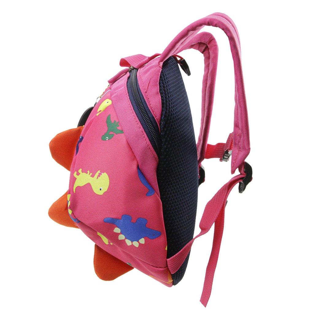 Toddler Safety Harness BackpackKids Walker Daypack Cartoon DinosaurRucksack Baby Prevent Lost Walking Shoulder Bag Preschool School Bag for Boys Girls Zoo Park Kindergarten Nursery Travel Bag by JIAHG (Image #1)