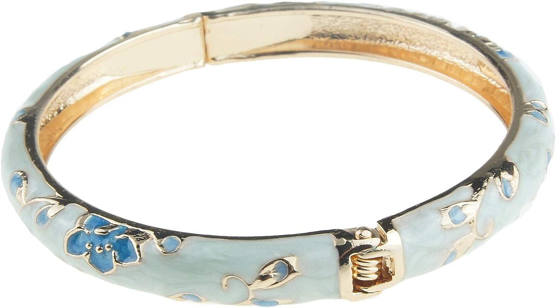 UJOY Cloisonne Bracelet Jewelry Floral Enameled Bangles Pack Gift for Girls Women 55D13