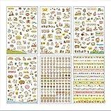 nicebuty 6?Blatt Lovely Cat Deko Aufkleber Klebeband/Kids Craft Scrapbooking Aufkleber Set f?r Diary, Album