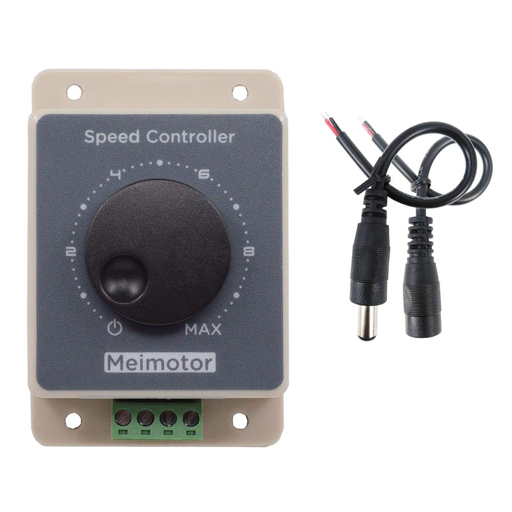 ZJLBTYPWM12V motor speed controller, DC10-60V 20A pulse width modulator RC controller speed regulator stepless variable rotary switch 12V 24V 36V 48V pulse width modulator waterproof housing