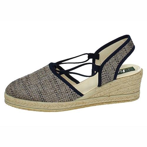 ISASA 0881/334 Alpargatas Esparto Mujer Alpargatas Azul 38: Amazon.es: Zapatos y complementos