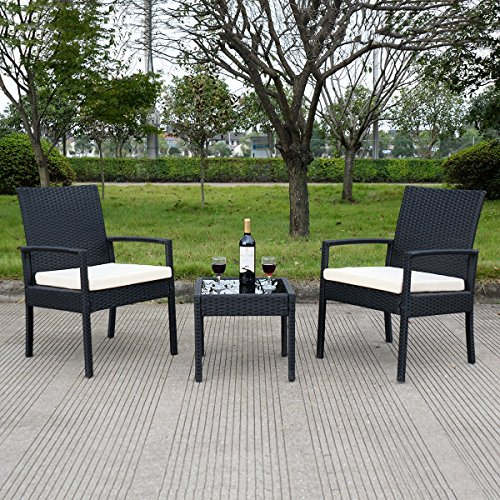 3 pcs Outdoor Rattan Patio Furniture Set - By Choice Products by By Choice Products (Image #1)
