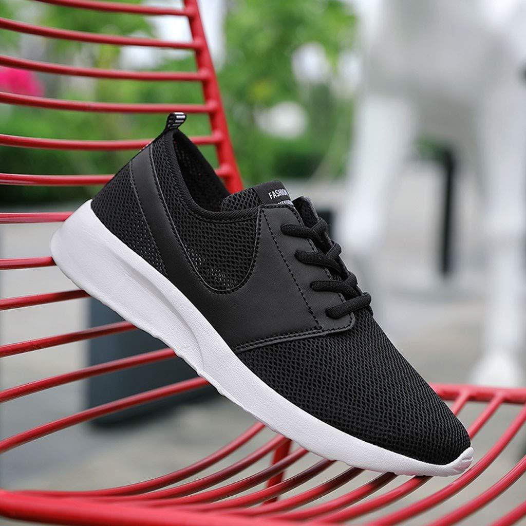 DOLDOA Baskets Mode Homme Noir Chaussures ete Homme de Mesh Sneakers Homme de Poids l/éger et Confortable Chaussure de Sport Homme de d/écontract/ée Chaussures de Running pour /Étudiants