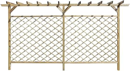Tuduo Cerca (treilles con pérgola de Madera (393, 5 X 200 cm (L x H) con Panel 161 x 144 cm (L x H) Kit Vallas jardín Plantas: Amazon.es: Jardín