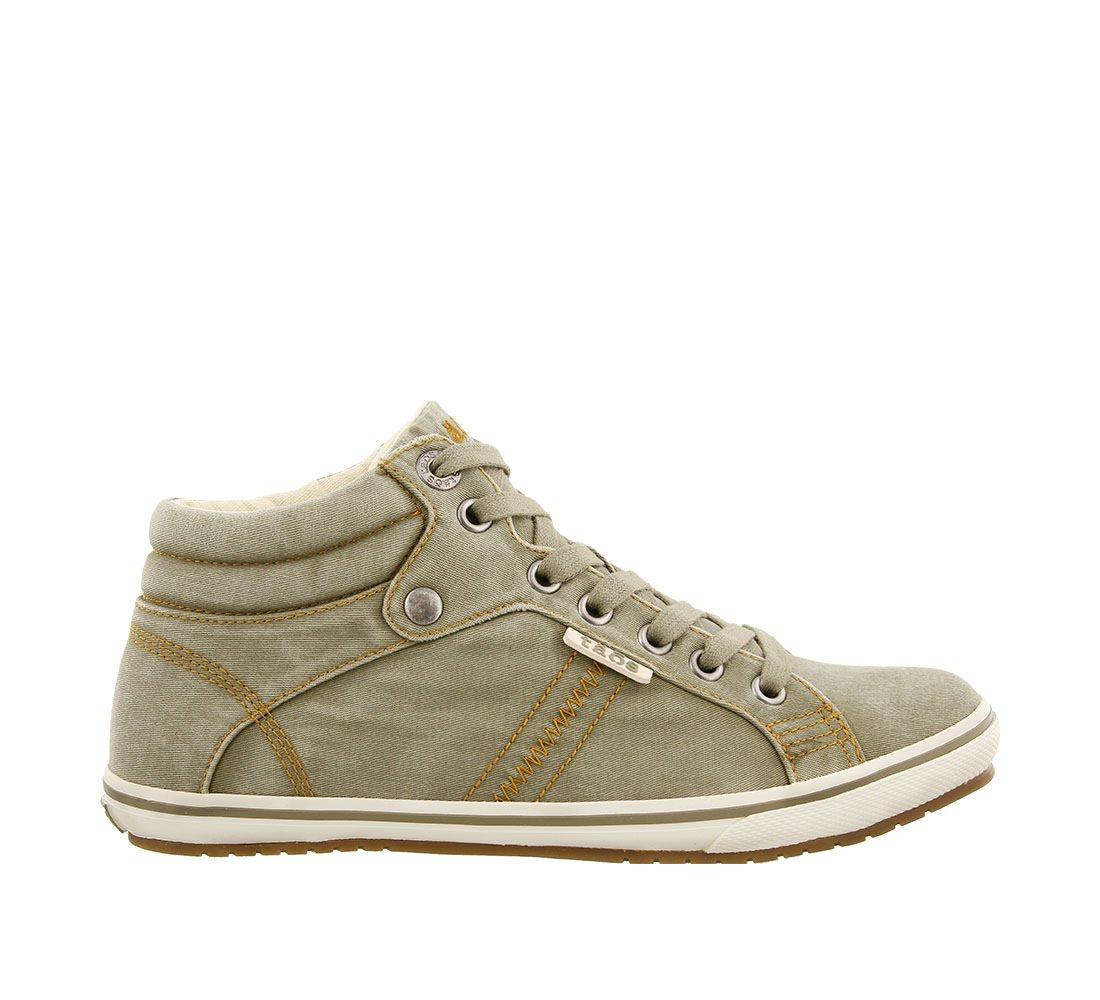 Taos Footwear Women's Top Star Graphite Distressed Sneaker 8 B (M) US B076VQYBQQ 9.5 M US|Sage Distressed
