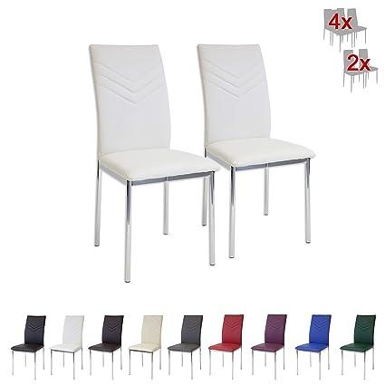 Albatros 2922 Verona Set de 2 sillas de Comedor, Blanco