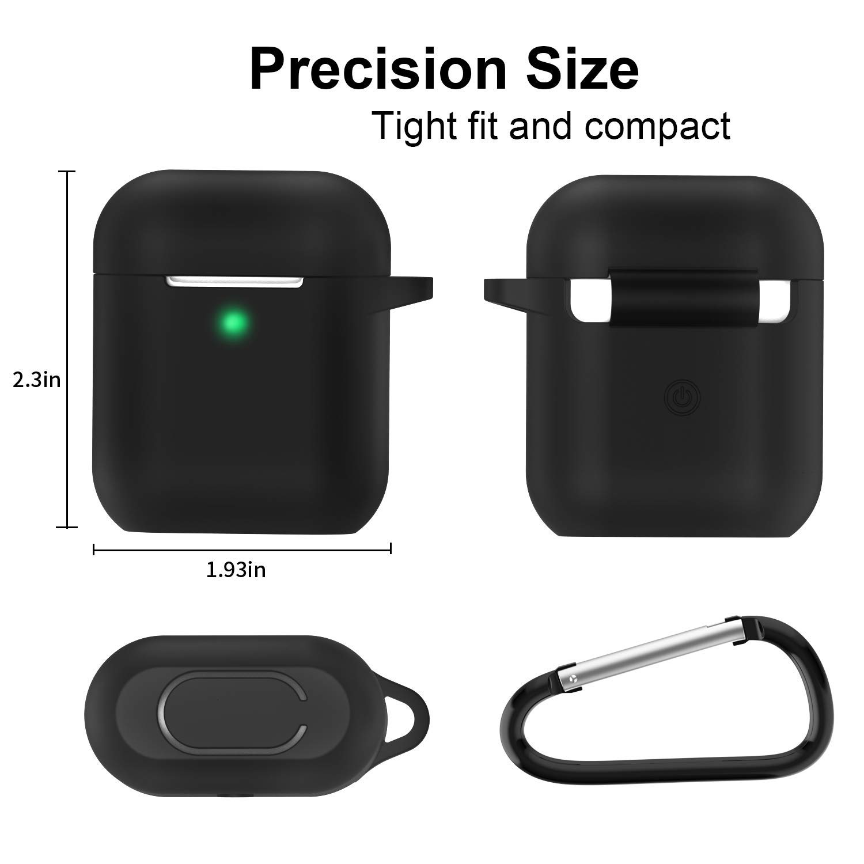 sin complicaciones Extra protecci/ón LED Frontal Visible - Verde Menta KOKOKA Funda AirPods Silicona Compatible con Apple AirPods 2 /& 1 Funciona con Carga inal/ámbrica -