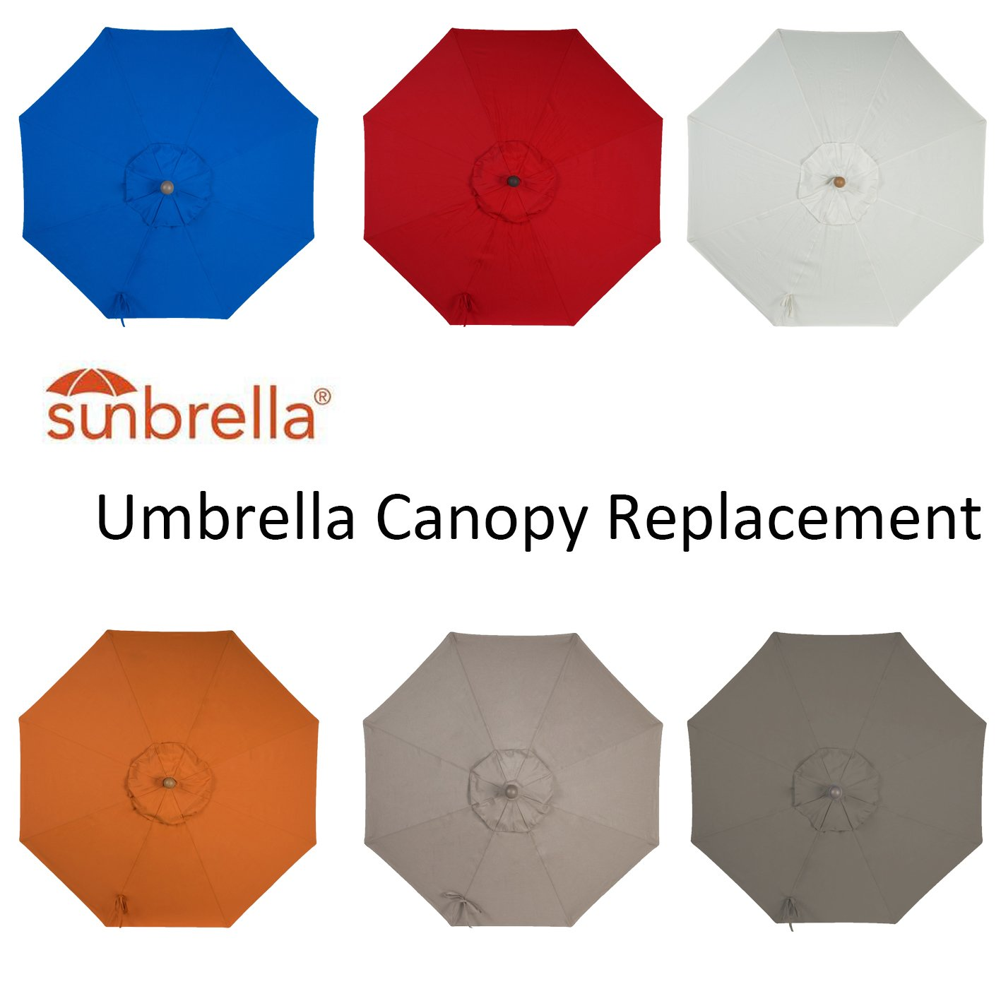Amazon.com  Amauri Outdoor Living The Market Collection Universal Fit Modern 9ft Sunbrella Fabric Replacement Umbrella Canopy Taupe  Garden u0026 Outdoor  sc 1 st  Amazon.com : replacement umbrella canopies - memphite.com