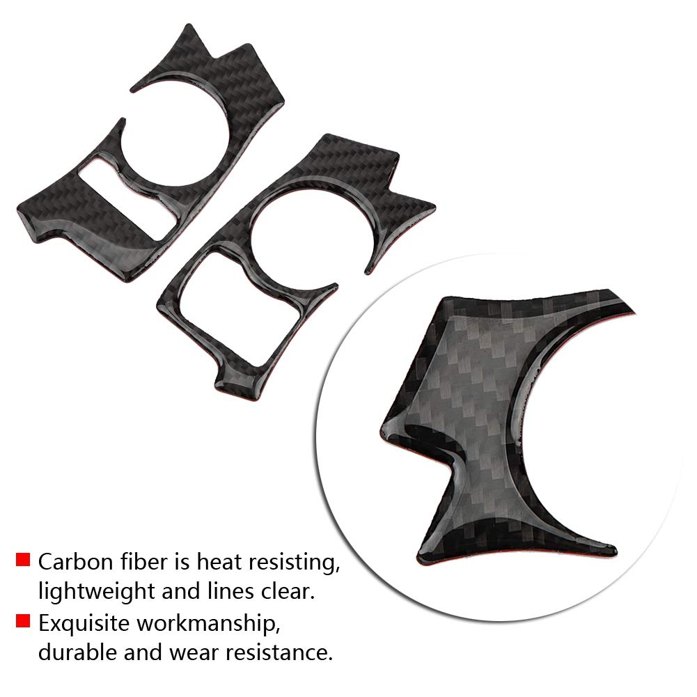 Hlyjoon car Steering Wheel Buttons 2Pcs Carbon Fiber Steering Wheel Trim Functional Button Car Interior Accessories Auto Styling for Lexus IS250 300 350 200 T 2013 2014 2015 2016 2017 2018