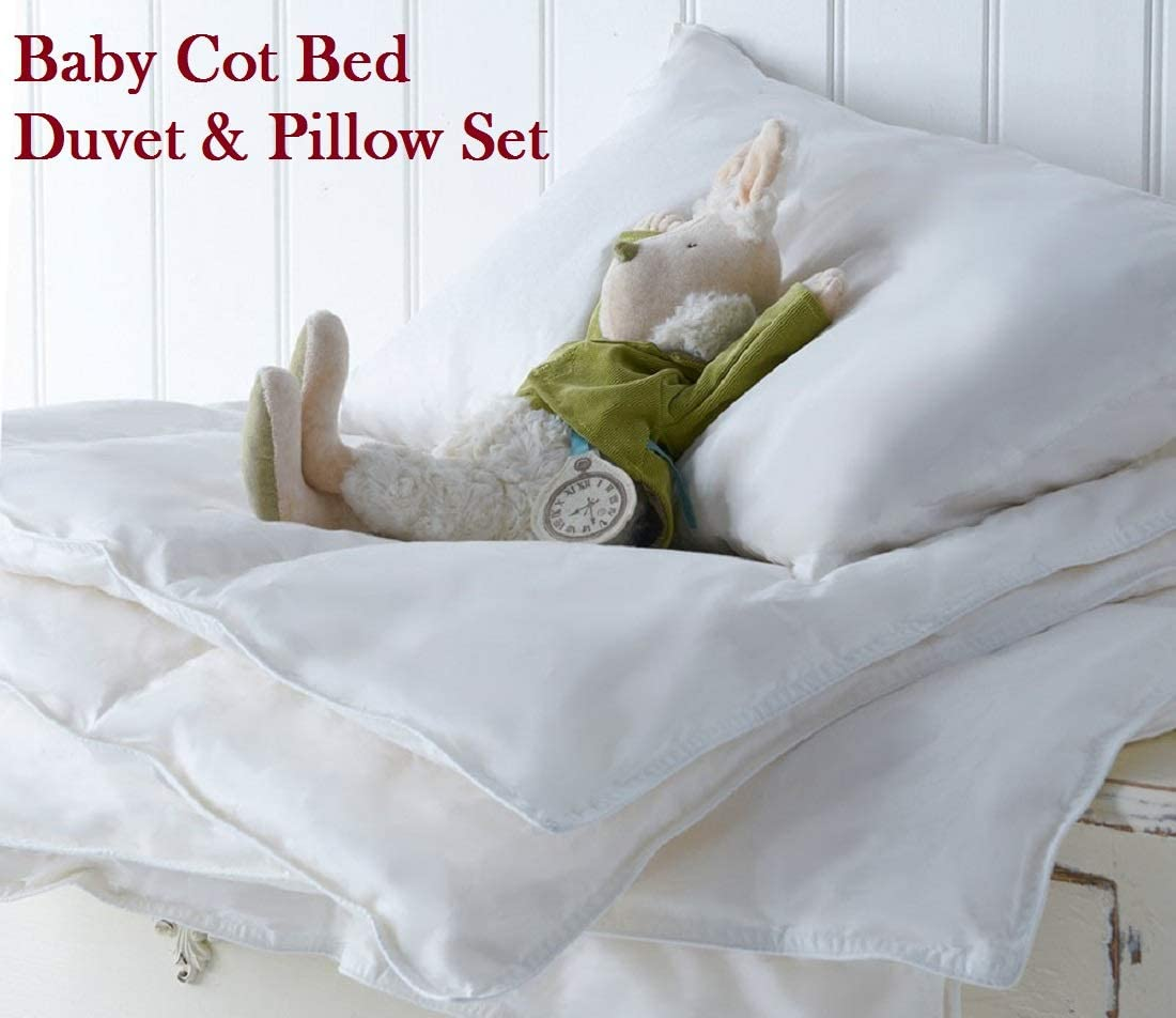 Anti Allergy Cot Bed Duvet /& Pillow Set for Baby//Junior Toddler 7.5 TOG Winter Season All Togs