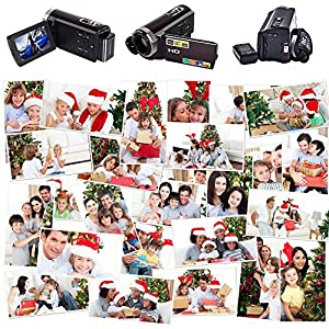 SEREE HDV-515 Camera Camorder Full HD 1080p Digital Video Recorder 20MP 16X Zoom 3 Inch Touch Screen Dual Memory Cards (HDV-515)