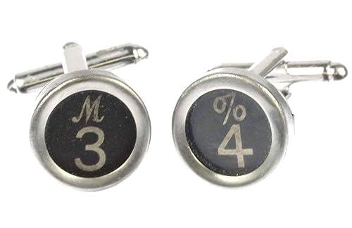 miniblings SOLICITUD Teclas de máquina de Escribir Gemelos NÚMERO número 6+ Negro?, 2