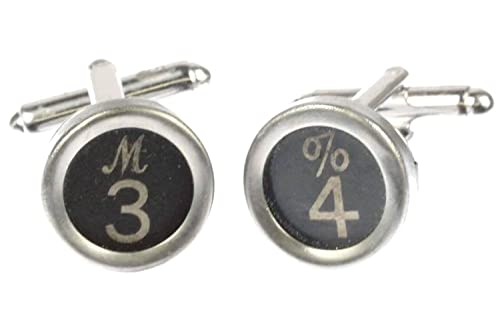 miniblings SOLICITUD Teclas de máquina de Escribir Gemelos NÚMERO número 1+ Negro?, 2. Zahl:0: Amazon.es: Joyería