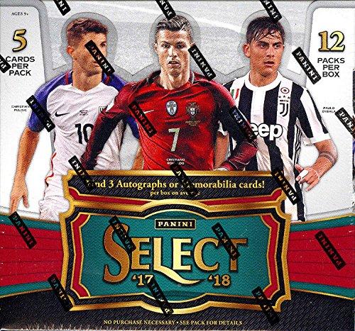 2017-18 Panini Select Soccer Hobby Box (12 Packs/5 Cards: 3 Autographs OR Memorabilia, 2 Inserts) (Hobby Trading Card)