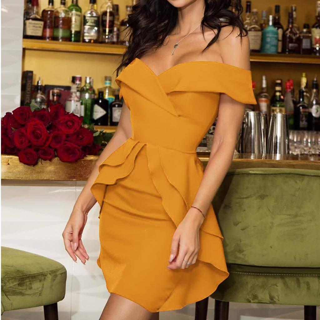 Vectry Vestidos para Ni/ña Vestidos para Boda De D/ía Vestidos De Fiesta Cortos Elegantes para Bodas Vestidos Largos De Verano Casual Vestidos Mujer Verano 2019 Vestidos