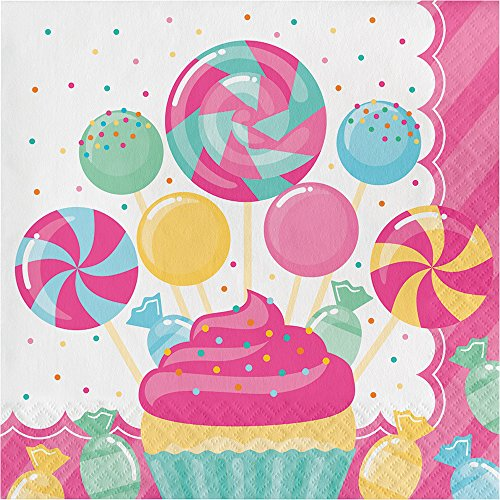 (Creative Converting 324830 192 Count Lunch Paper Napkins, Candy Bouquet)