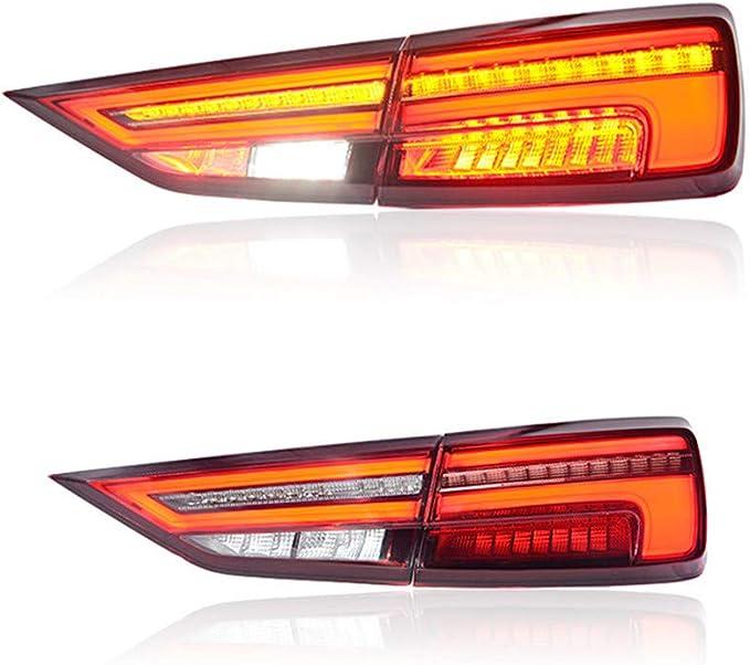 VLAND Feux Arri/ère /à DEL avec Lentille Transparente pour Feux Arri/ère Ranger T6 XLT TAKE TDCI Pickup 2012-2018 avec Fonctions de Clignotants S/équentiels Super Lumineux