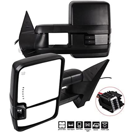eccpp towing mirrors a pair of exterior automotive mirrors replacement fit  for chevy gmc 2008-
