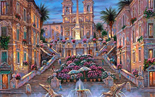 makeuseof Paintings R The Spanish Steps Italy Rome stairs...