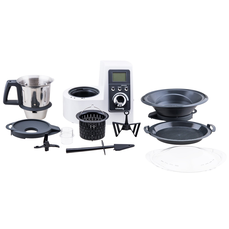 Amazon De H Koenig Hkm1032 Kuchenmaschine Mit Kochfunktion