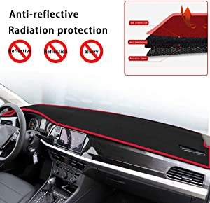 Custom Car Dash Cover Mat for Subaru Outback Legacy 2015-2018 Carpet Dashboard Cover Protector red line