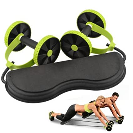 f359d53cbc New Sport Core Double AB Power ab roller ab wheel fitness Abdominal  exercises Equipment coaster Pull roda Waist Slimming Trainer  Amazon.co.uk   Kitchen   ...