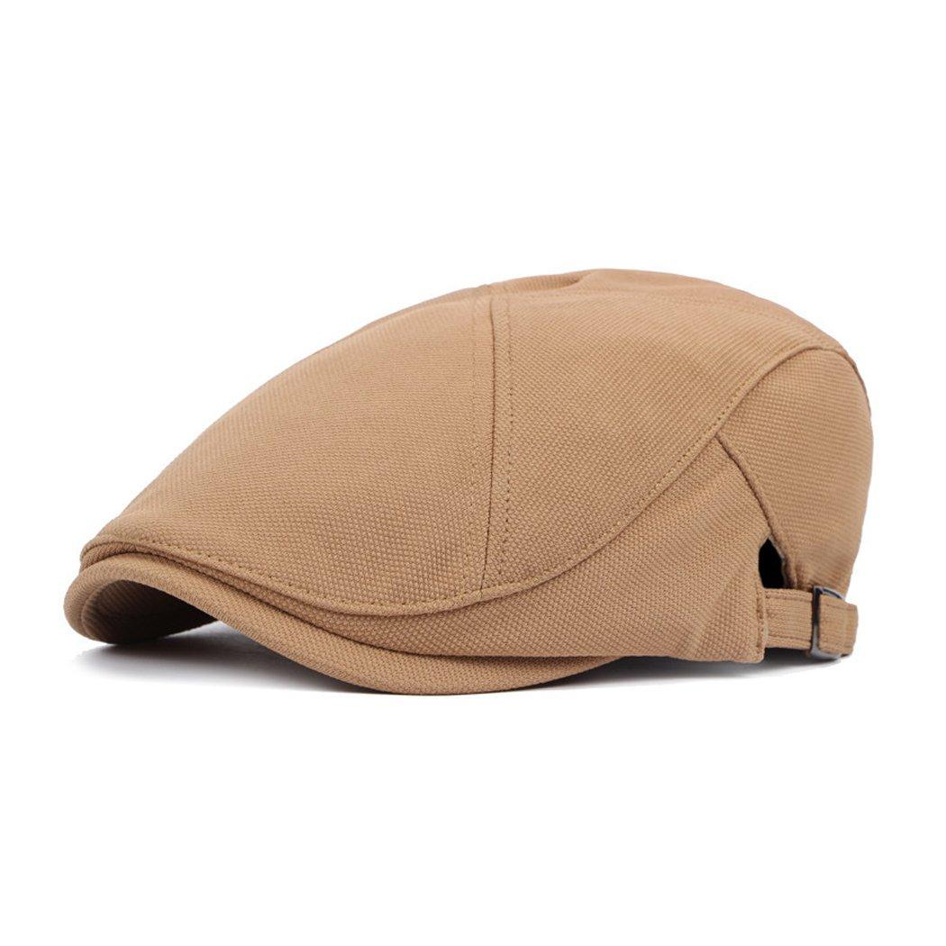 Anshili Men's Cotton Beret Newboys Cap (Black) ShiAn