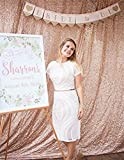 TRLYC 4Ft7Ft Champagne Sequin Wedding Backdrop Sparkly Photography Backdrop For Wedding