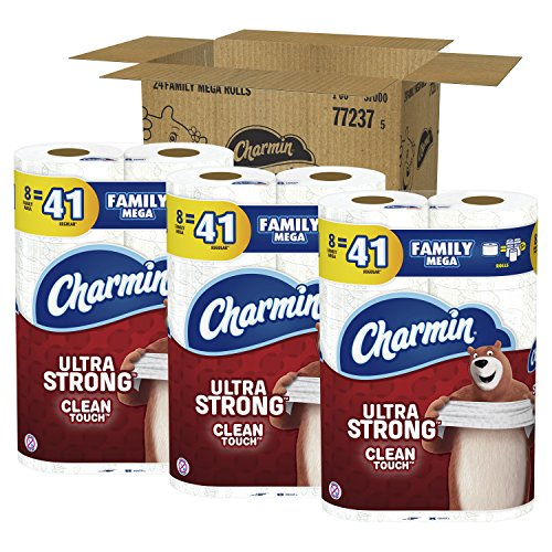 Charmin Ultra Strong Toilet Paper, Family Mega ...