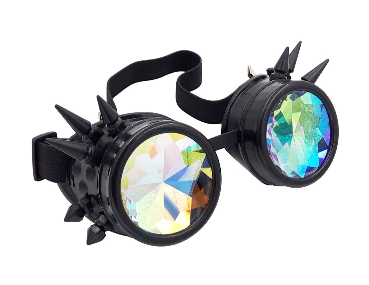 Oudeer Vintage Rustic Cyber Kaleidoscope Goggles Steampunk Welding Goth Cosplay Punk Glasses (Copper Frame)