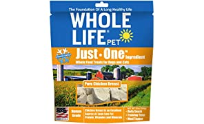 Whole Life Pet Healthy Dog and Cat Treats Value Pack, Human-Grade Whole Chicken Breast, Protein Rich for Training, Picky Eaters, Digestion, Weight Control, Made in the USA, 10 Ounce