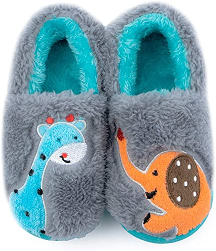 ZooYung Toddler Baby Lightweight House Slippers Shoes Home Bedroom Family Household Anti-Slip Indoor for Kids Boys and Girls