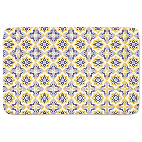 Moorish Splendor Bathroom Rugs: Memory Foam (24 X 36 inch) Incrediby Soft Memory Foam Spa Quality by uneekee