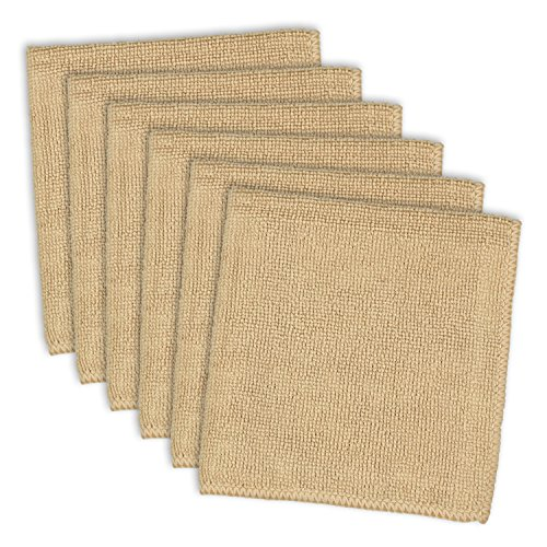 DII Kitchen Millennium Cleaning, Washing, Drying, Ultra Absorbent, Microfiber Dishcloth, Set of 6, Taupe
