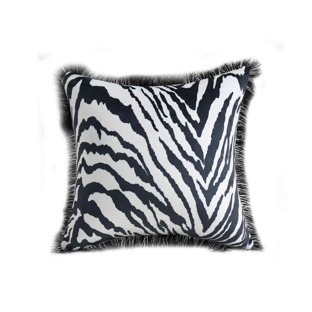 Throw Pillows Pillow Pillow Black Pillow Cushion Square Pillow Nordic Fashion Creative Zebra Silk Cloth Teddy Pillow Case Sofa Cushion Car Waist Pad Model Bed Bed Pack Zebra Core