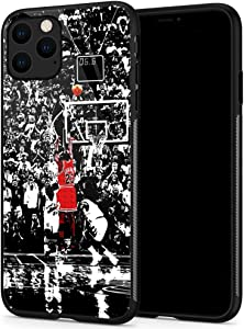 Lxury Design iPhone 11 Pro Case, Basketball Player 1081 Pattern,9H Tempered Glass iPhone 11 Pro Cases for Men Women Fans TPU Shock Protective Anti-Scratch Cover Case for iPhone 11 Pro