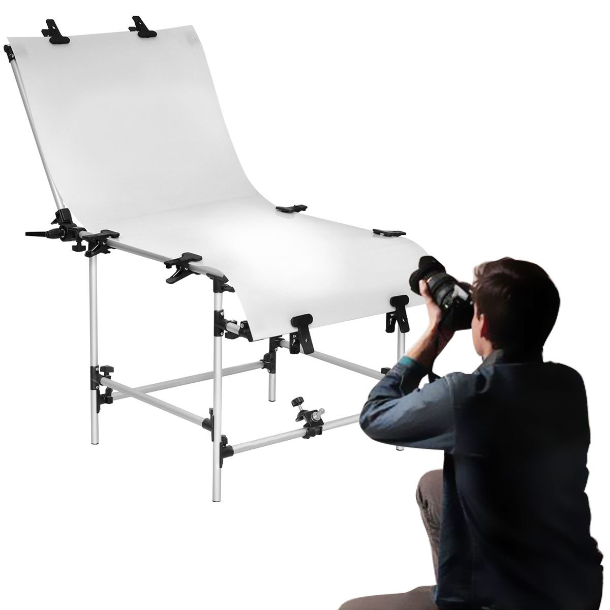Safstar Photo Shooting Table PVC Board Non-Reflective Photo Studio Bench (23''x51'') by Safstar (Image #4)