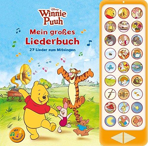 Winnie Puuh - Mein großes Liederbuch - 27 Lieder zum Mitsingen - Hardcover-Buch mit Noten