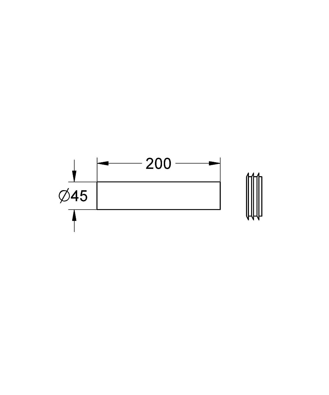 tama/ño: 200mm Grohe 37 489 000 Accesorio de ba/ño