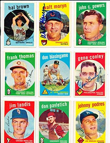 - John Powers Cincinnati Reds #489 Signed 1959 topps card SIGNED 1959 Topps baseball card