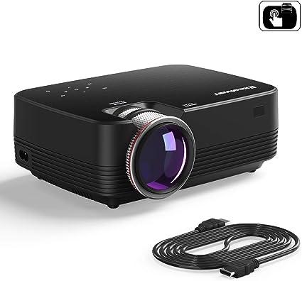Excelvan Q6 1800 lúmenes 4 LED Mini portátil Proyector de Video ...